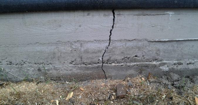 Fundament iz betonnih blokov Kak otremontirovat treschini