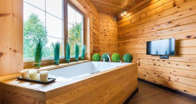 Ванная в деревянном доме – все особенности и этапы строения