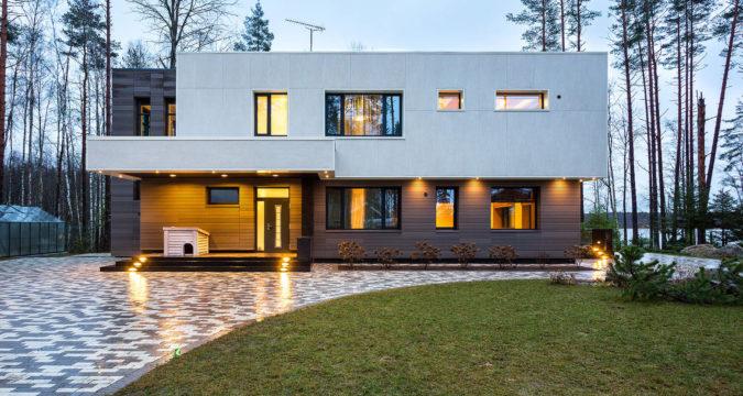 Современный стиль для фасада дома